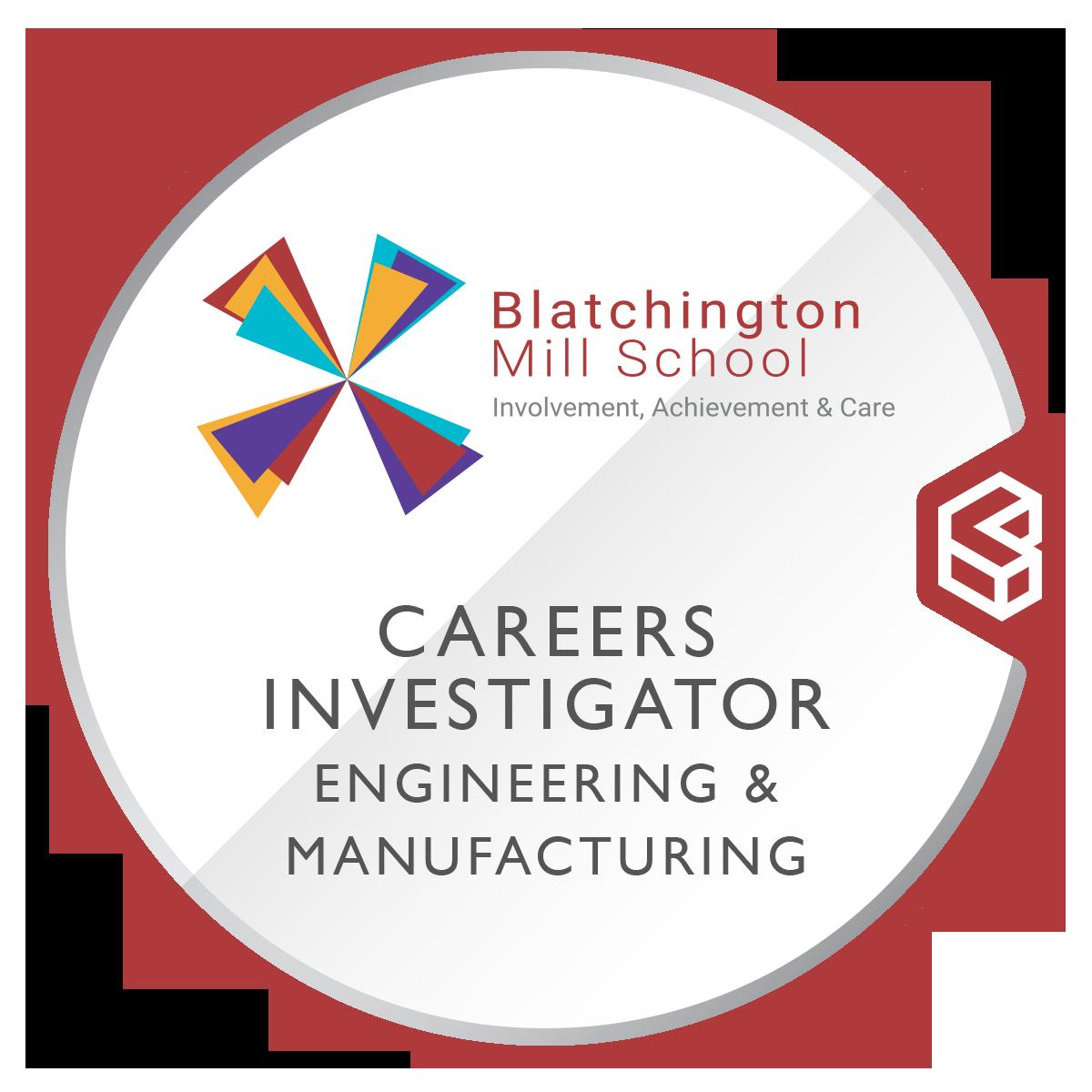 Blatchington Mill School Careers Investigator Engineering & Manufacturing