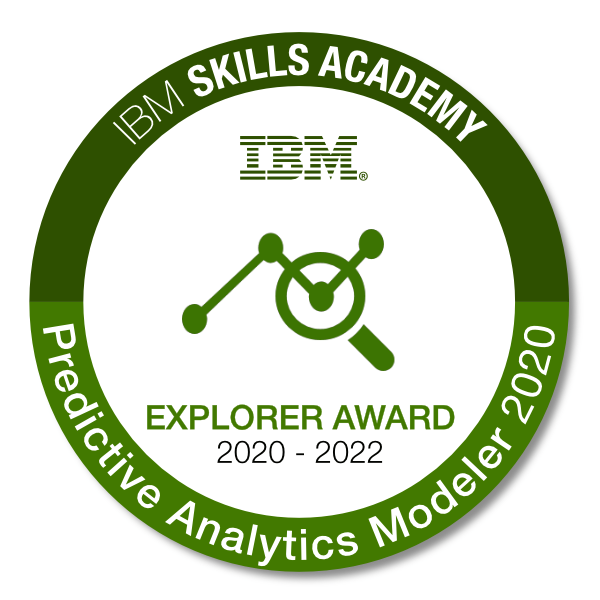 Predictive Analytics Modeler 2020 - Explorer Award