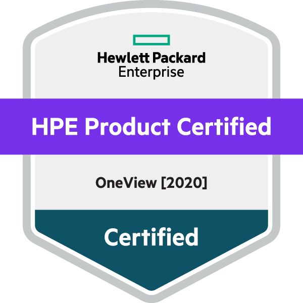 HPE Product Certified - OneView [2020]