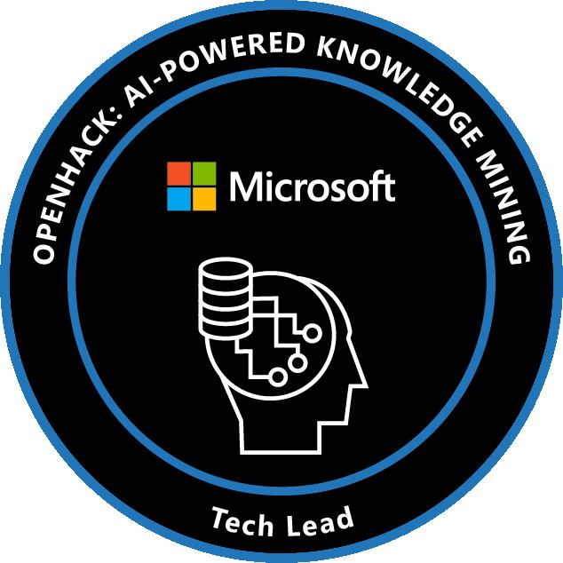OpenHack: AI-Powered Knowledge Mining Tech Lead