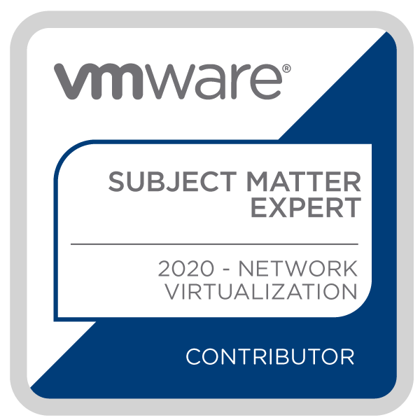 Certification Subject Matter Expert – Network Virtualization 2020