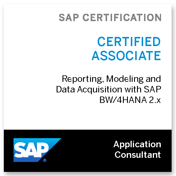 SAP Certified Application Associate - Reporting / Modeling and Data Acquisition with SAP BW/4HANA 2.x