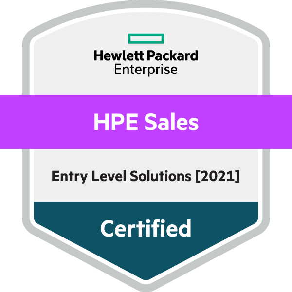 HPE Sales Certified Entry Level [2021]