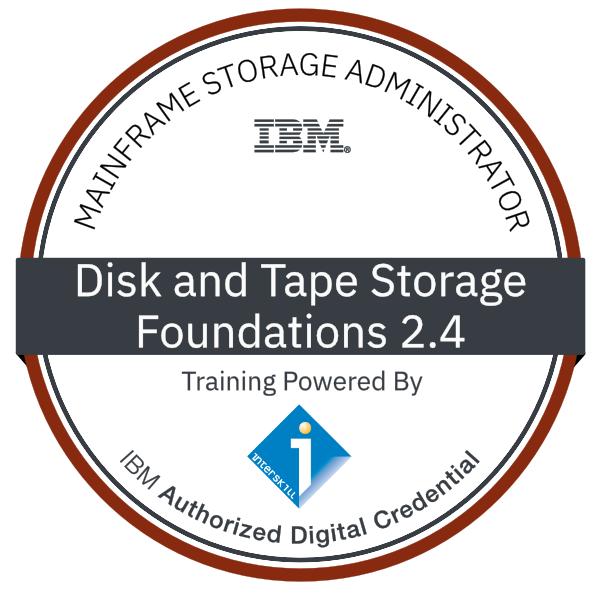 Interskill - Mainframe Storage Administrator - Disk and Tape Storage - Foundations 2.4