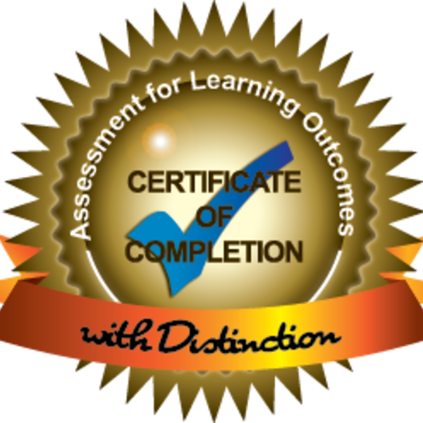 Assessment of Learning Outcomes Certificate with Distinction