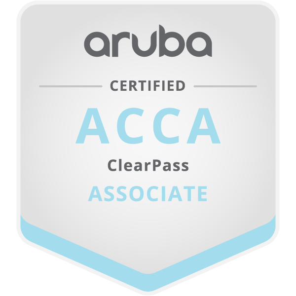 Aruba Certified ClearPass Associate (ACCA)