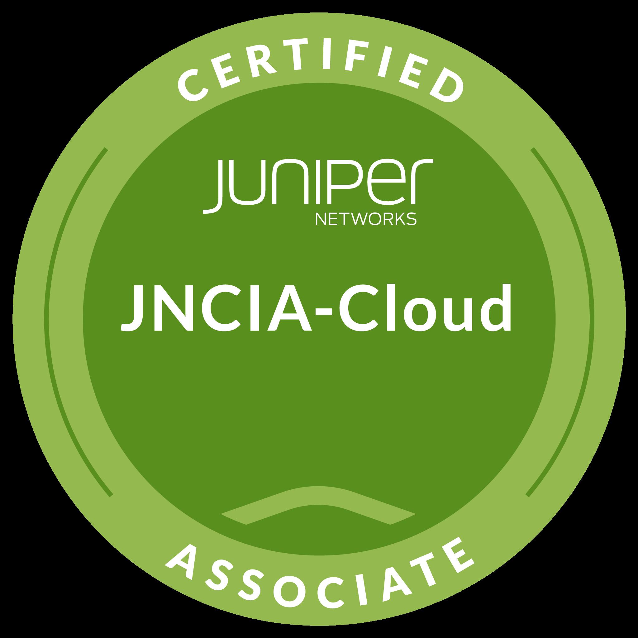 Juniper Networks Certified Associate, Cloud (JNCIA-Cloud)