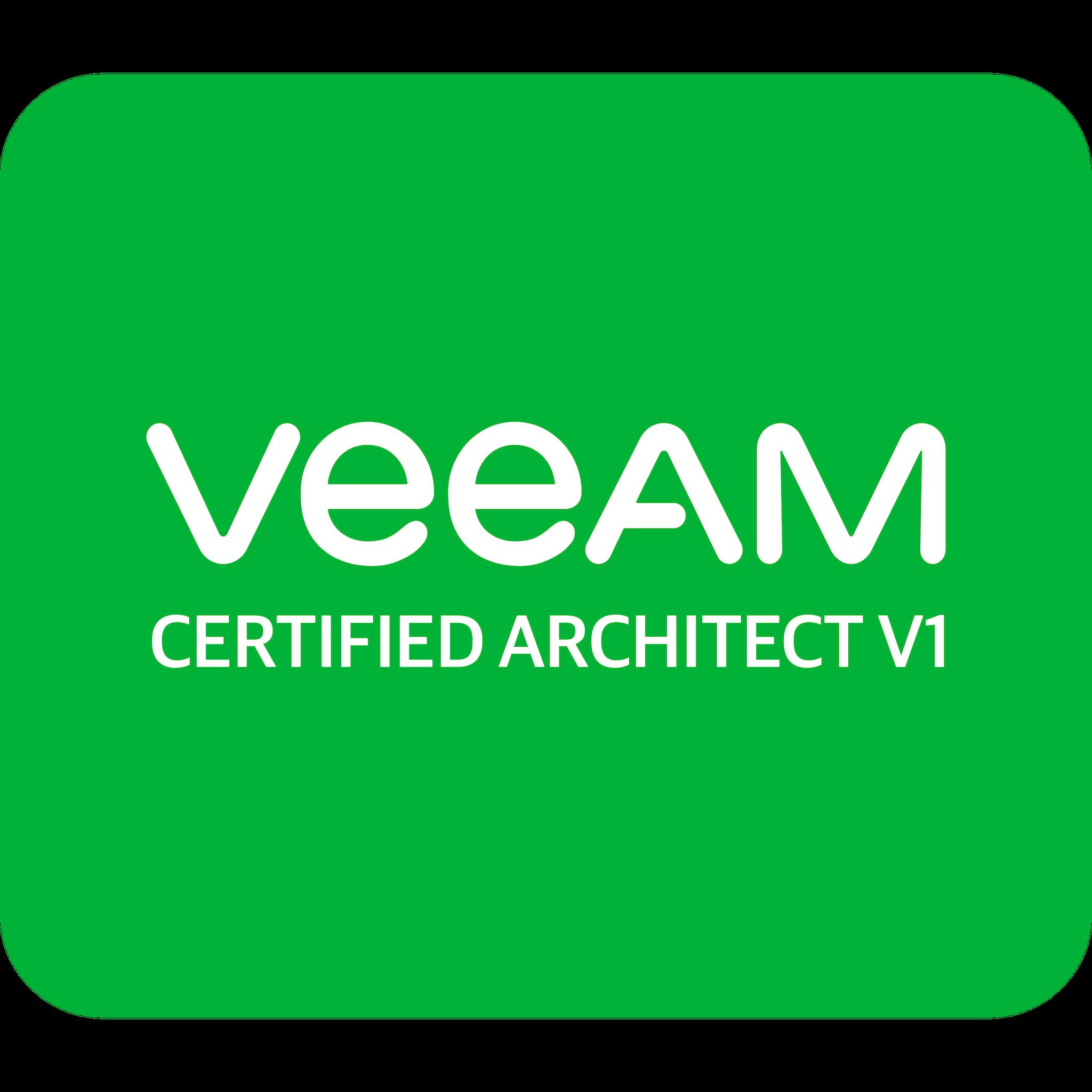 Veeam Certified Architect v1 (VMCA v1)