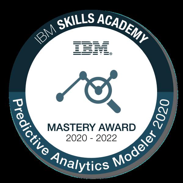 Predictive Analytics Modeler 2020 - Mastery Award