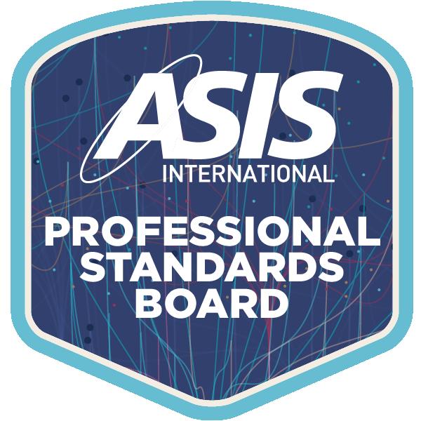 ASIS Professional Standards Board member