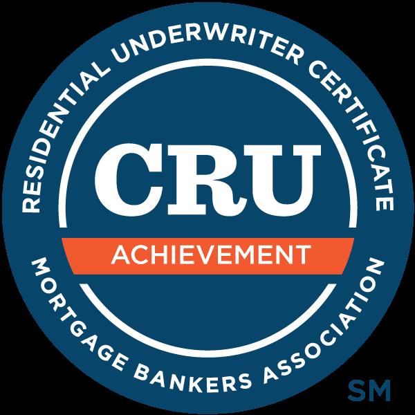 Residential Underwriter Achievement Certificate - Level I