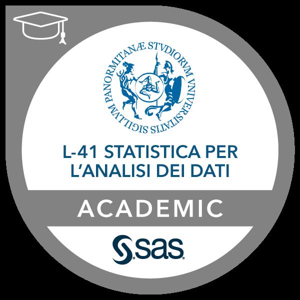 SAS – Università degli studi di Palermo Joint Certificate in Data Analysis