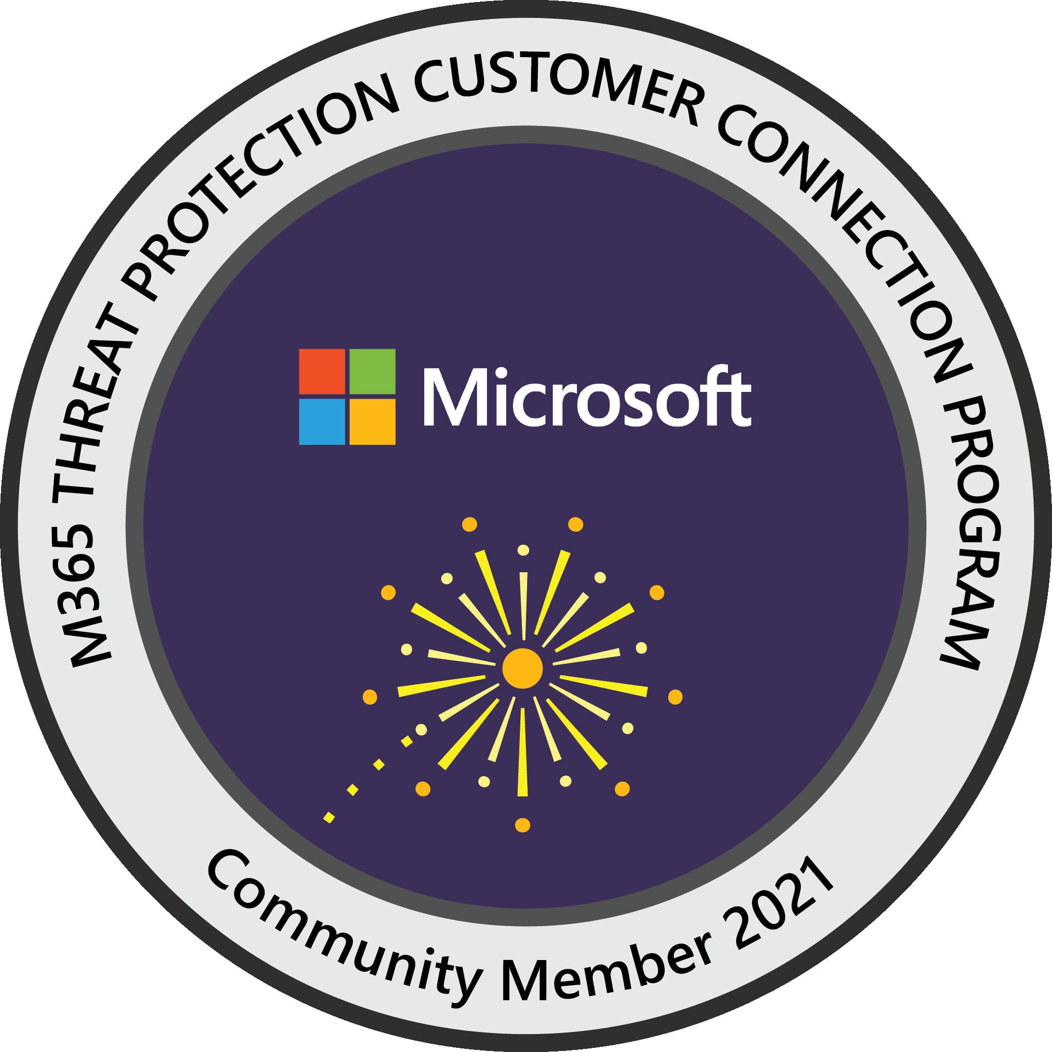 Microsoft 365 Threat Protection Customer Connection Program: Community Member 2021