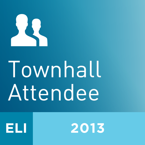 2013 ELI Annual Meeting Townhall Attendee