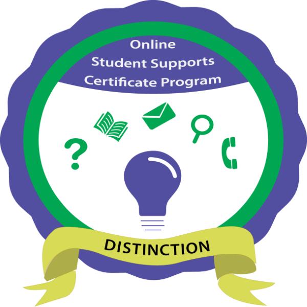 Online Student Supports Certificate Program with Distinction