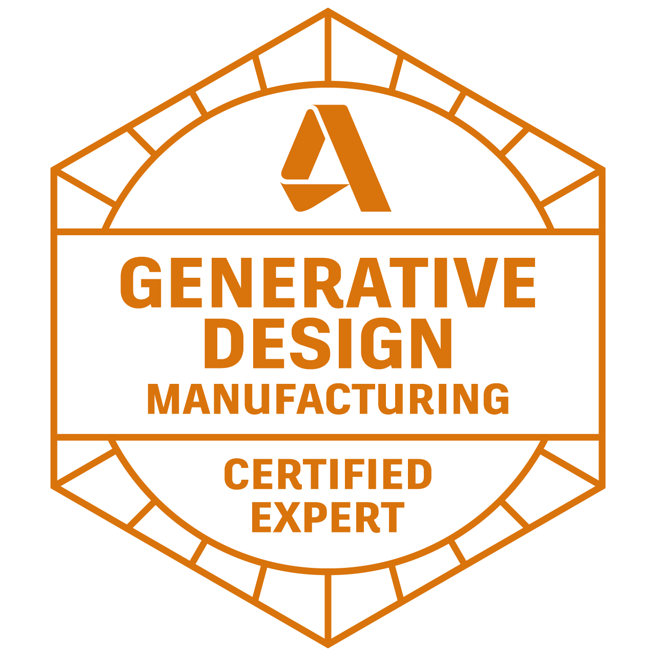 Autodesk Certified Expert in Generative Design for Manufacturing
