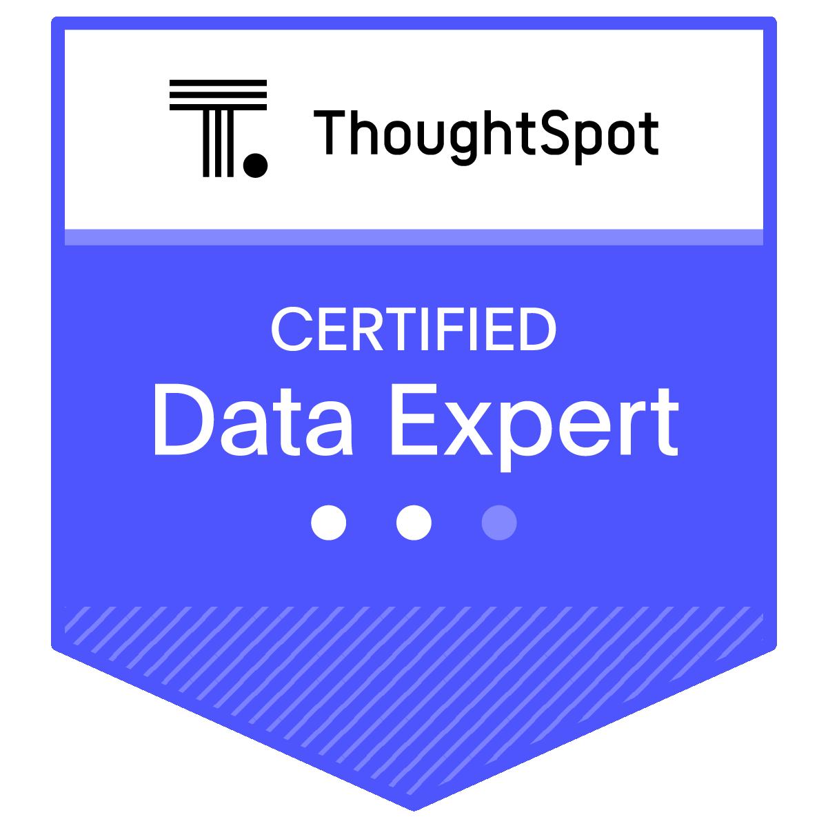 Certified ThoughtSpot Data Expert