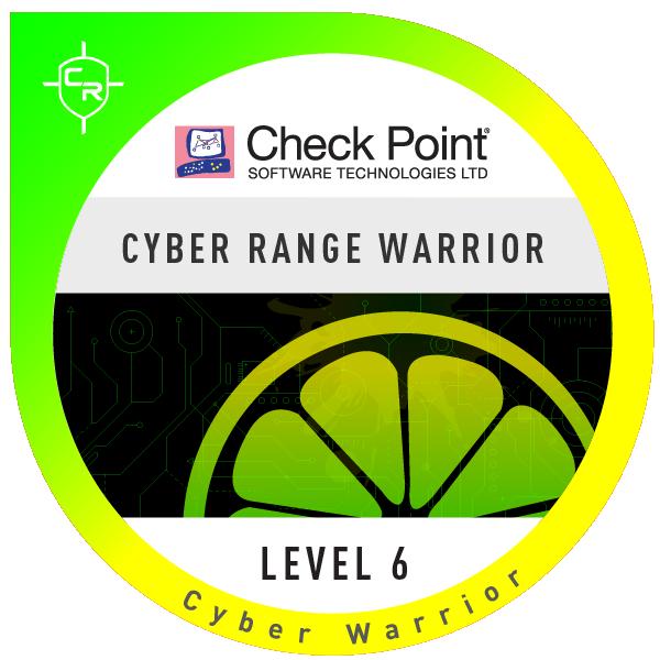 Check Point Cyber Range Warrior Level-6