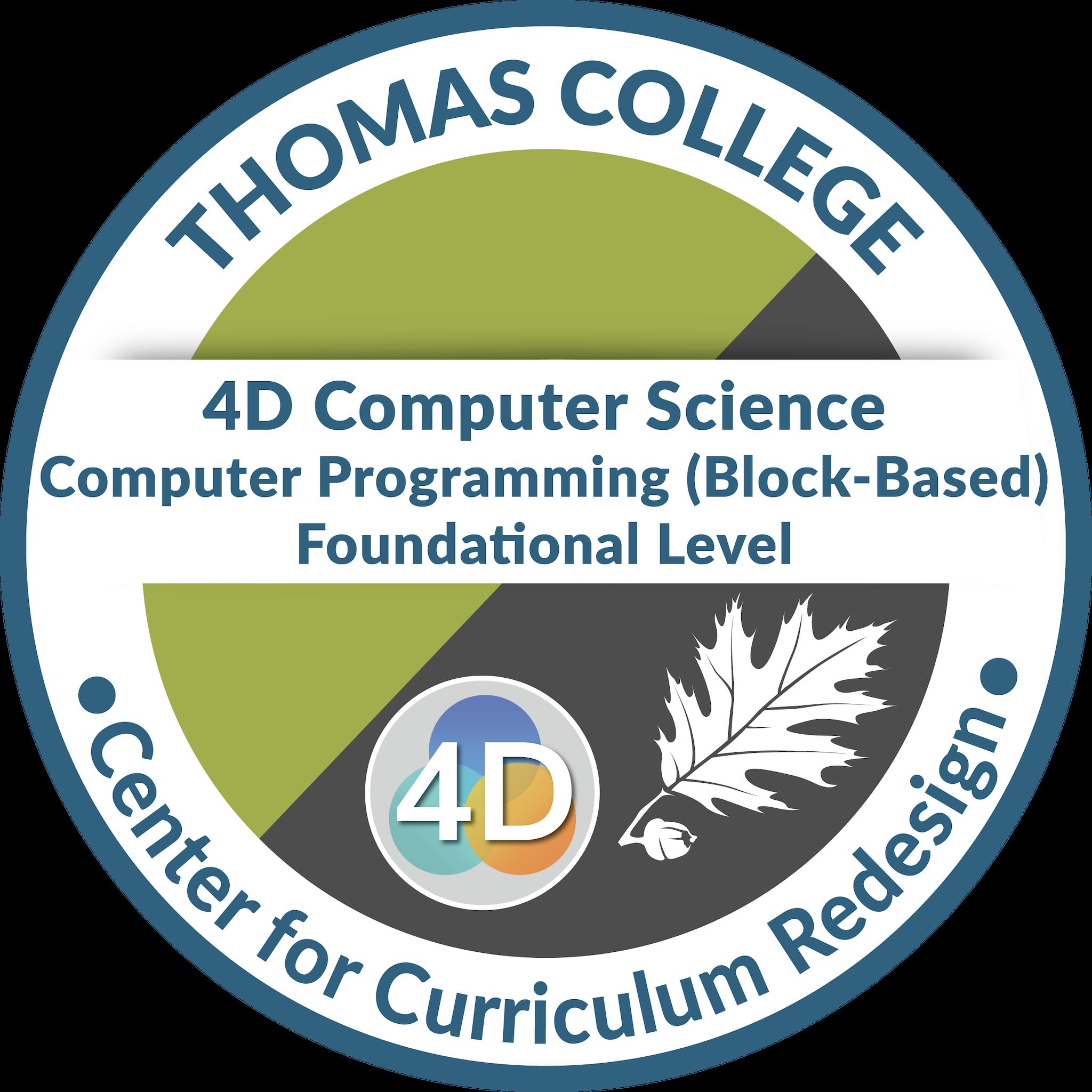 4D Computer Science: Computer Programming (Block-Based)