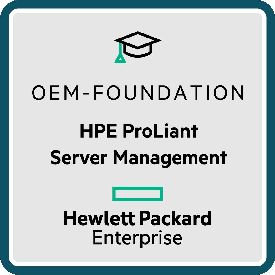 HPE ProLiant Server Management - OEM Foundation