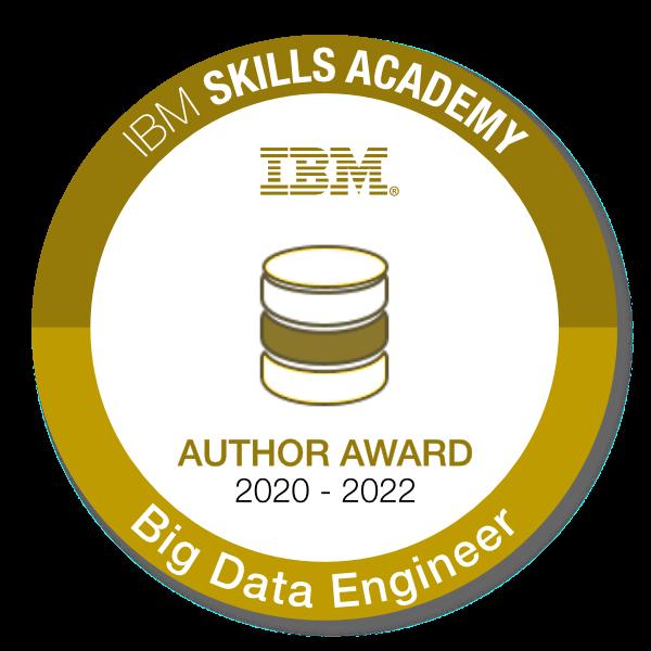 Big Data Engineer - Author Award 2020