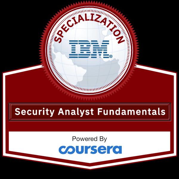 Security Analyst Fundamentals Specialization