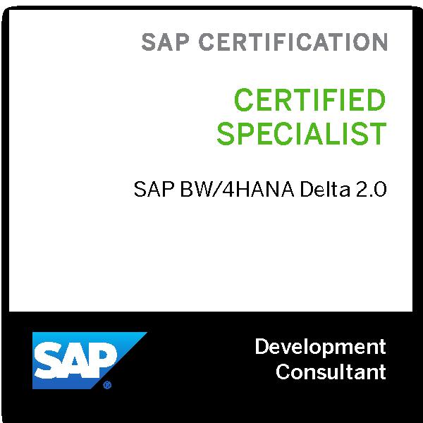 SAP Certified Application Specialist - SAP BW/4HANA Delta 2.0