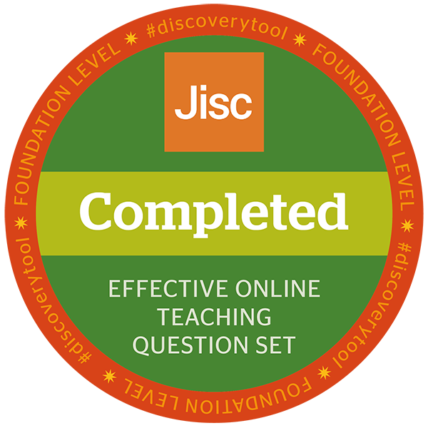 Jisc discovery tool - Effective Online Teaching