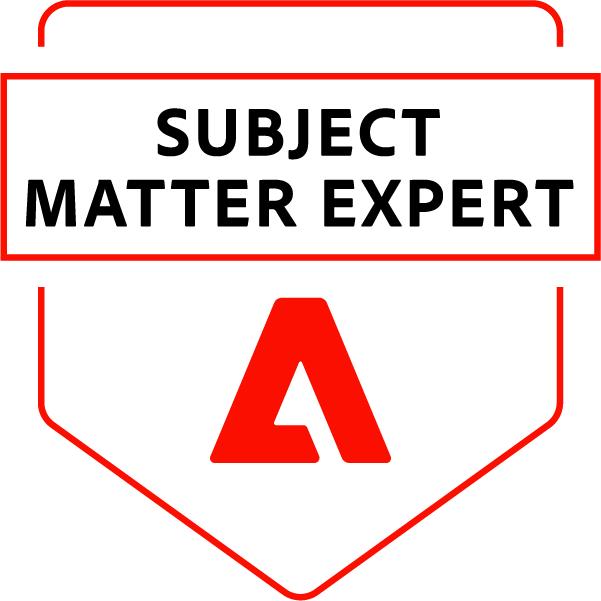Adobe Subject Matter Expert - Adobe Target Architect Master