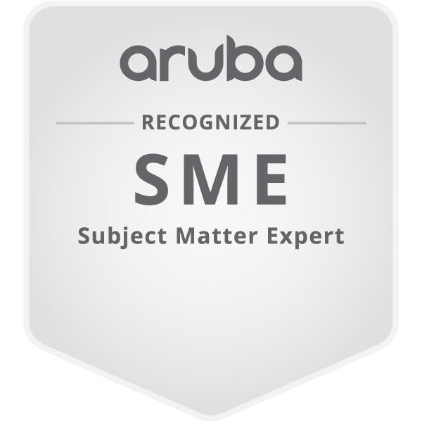 Aruba Recognized Subject Matter Expert