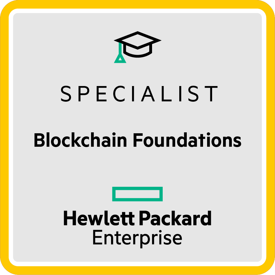 HPE Specialist - Blockchain Foundations