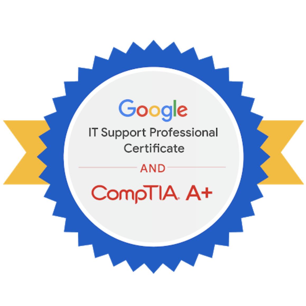 Google/CompTIA dual credential
