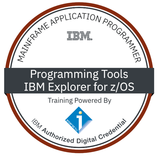 Interskill – Mainframe Application Programmer – Programming Tools – IBM Explorer for z/OS