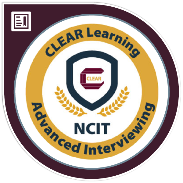 NCIT Specialized - Advanced Interviewing
