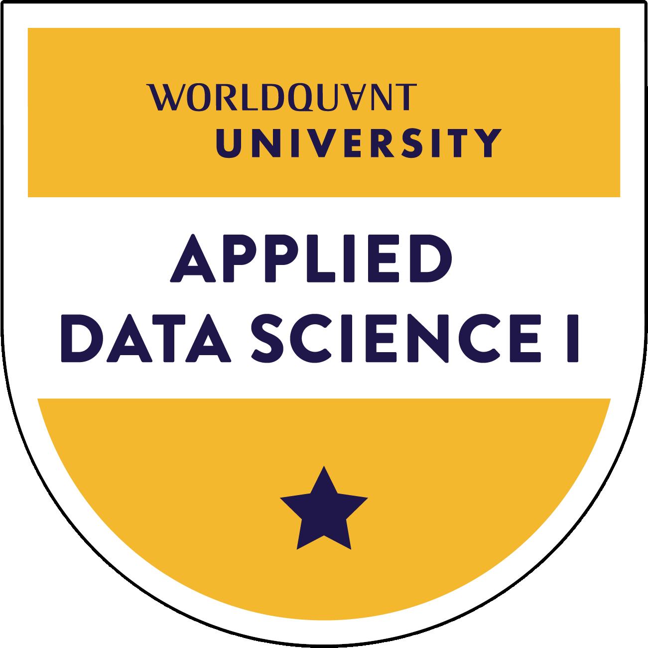 Applied Data Science I: Scientific Computing & Python