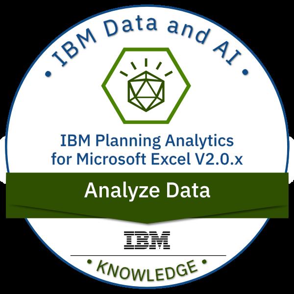 IBM Planning Analytics for Microsoft Excel V2.0.x Analyze Data