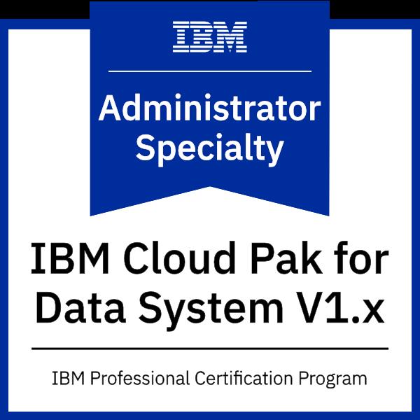 IBM Cloud Pak for Data System V1.x Administrator Specialty