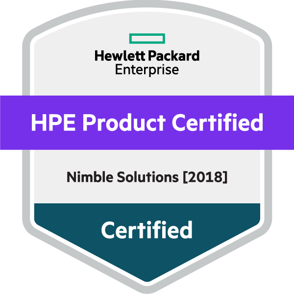 HPE Product Certified - Nimble Solutions [2018]