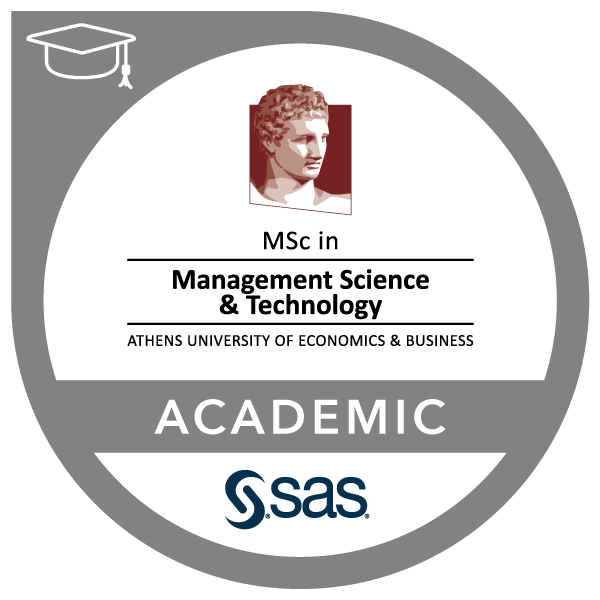 SAS – Athens University of Economics and Business, MSc Management Science & Technology Joint Certificate in Business Intelligence and Data Mining