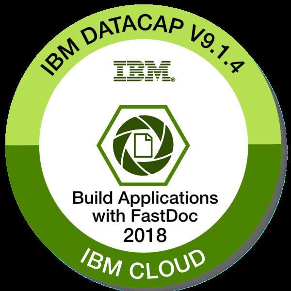 IBM Datacap V9.1.4 - Build Applications with FastDoc