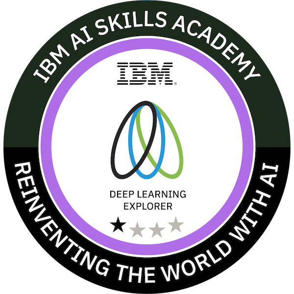 IBM AI Skills Academy Deep Learning Explorer