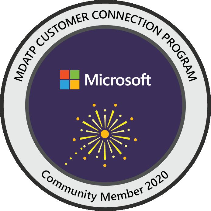 Microsoft Defender ATP Customer Connection Program: Community Member 2020
