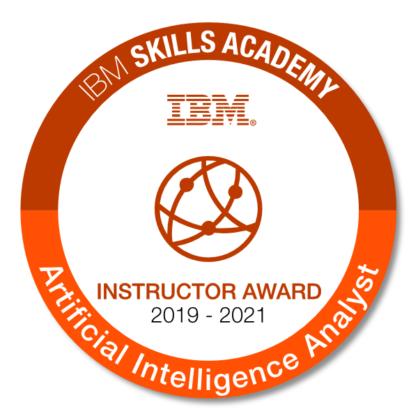 Artificial Intelligence Analyst - Instructor Award 2019