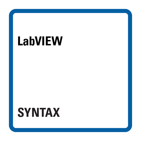 LabVIEW Syntax