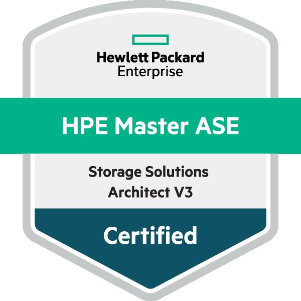 HPE Master ASE - Storage Solutions Architect V3