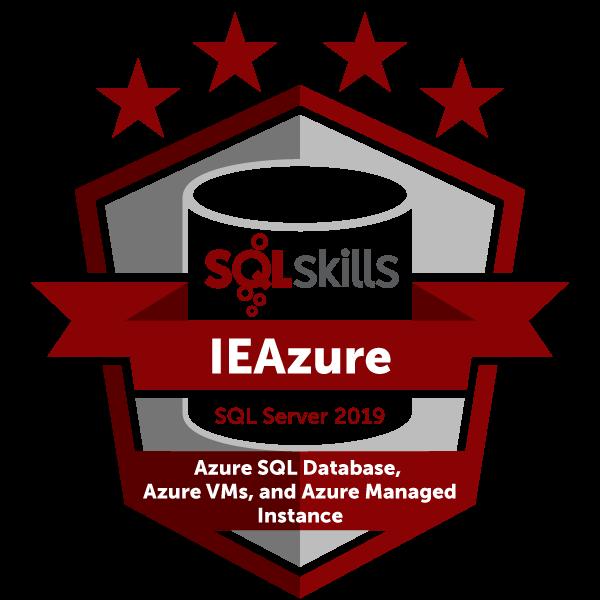SQLskills IEAzure - SQL Server 2019