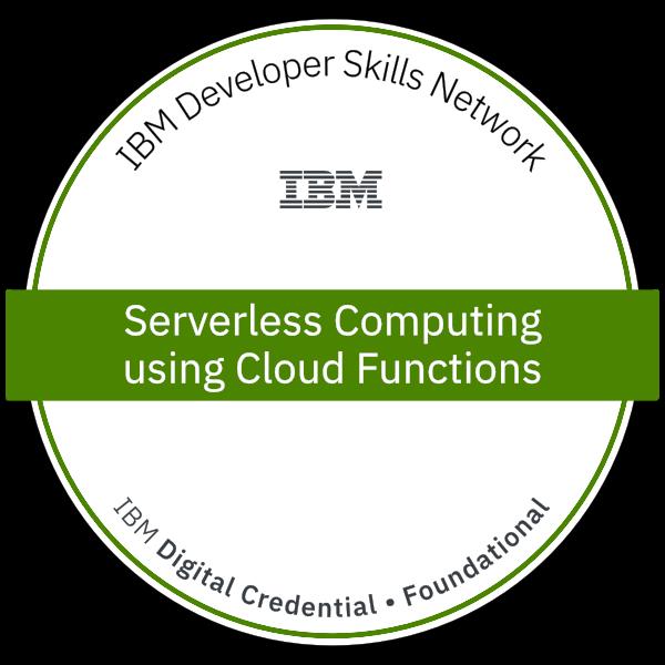 Serverless Computing using Cloud Functions - Developer I