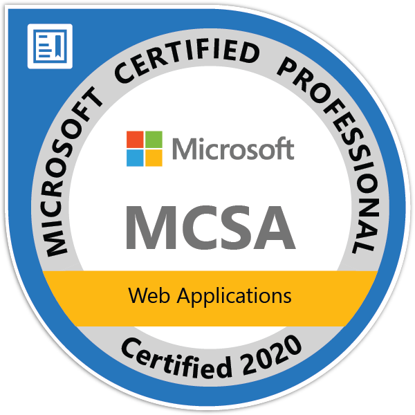 MCSA: Web Applications - Certified 2020