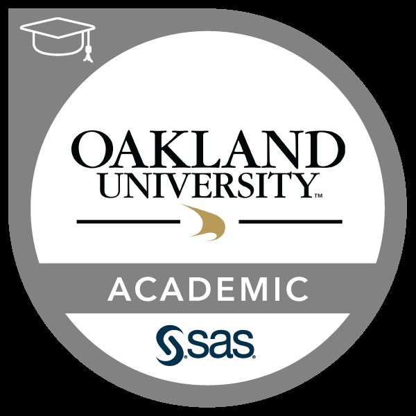 SAS - Oakland University Academic Specialization in SAS Analytics
