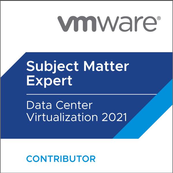 Certification Subject Matter Expert - Data Center Virtualization 2021